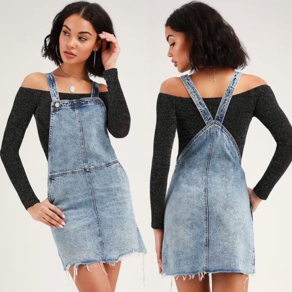 Blank NYC Blow the Bag Skirtall Overalls Dress 28